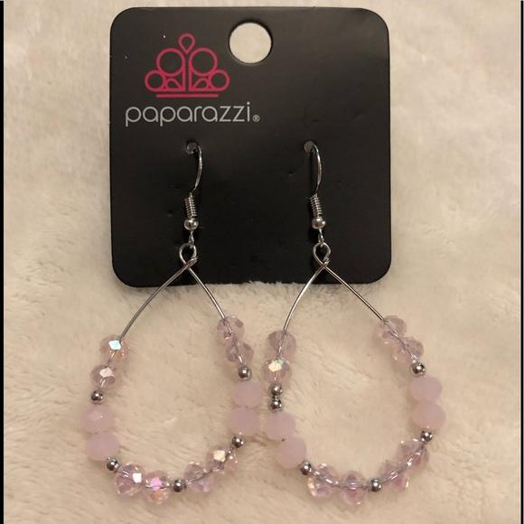 Paparazzi Wink Wink pink earrings